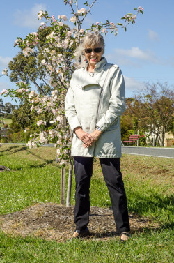 Kristine Ancher and her streetscaping trees