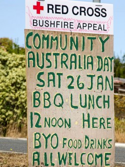 Sign for Kettering Community BBQ